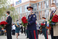В честь Дня Победы в столице Кубани возложили венки и цветы к мемориалу «Вечный огонь»